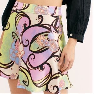 Free People Retro 70s-Inspired High Rise Skirt 0